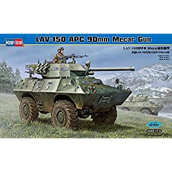 Hobby Boss LAV-150 APC with 90mm MECAR Gun Vehicle Model Building Kit