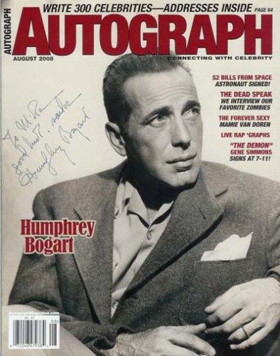 Autograph Magazine - August 2008: Humphrey Bogart, Gene Simmons, Mamie Van Doren, and More! (Volume 19 Number 8)