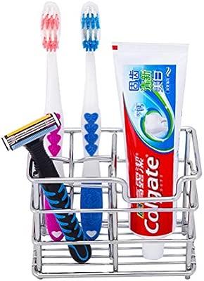 Acero Inoxidable Portacepillos de Dientes,AZX,Porta Cepillo de Dientes y Pasta, Soporte para cepillo de dientes del Baño