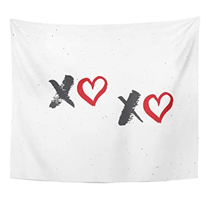 Amazon com: YUGRTSY Tapestry Wall Art XOXO Brush Lettering Sign