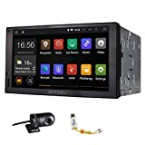 JOYING Quad Core 1024*600 Resolution Automotive in Dash Universal Double Din Android 4.4.4 Tablet Car Stereo Radio Audio Head Unit GPS Navigation Support Bluetooth/wifi, with a Car DVR