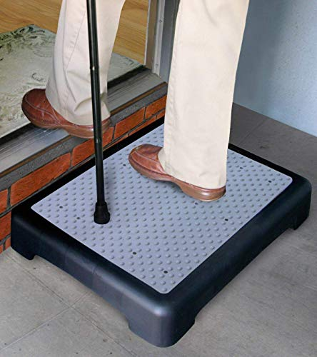 "Hoovy 3.5"" Step Riser - Portable One Step Stool for Elderly & Disabled -Antislip Half Step for Indoor & Outdoor Stairs, Cars, Bed, Chair, Shower - Lightweight Mobility Safety Tread for Up to 400lbs"