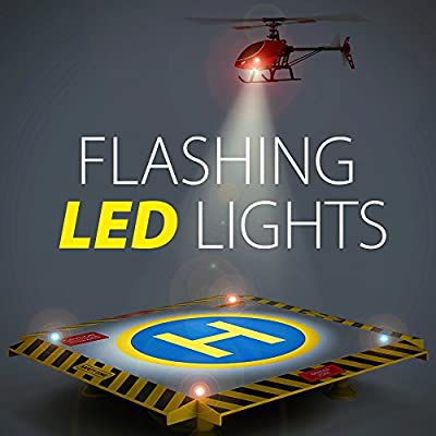 Eagle Pro Remote Control Helicopter Landing Pad - Complete Edition - Flashing LED Lights Installed - Suitable for RC Helicopters, Quadcopters, Drones, Syma Helicopters: Toys & Games