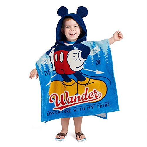 Disney Mickey Mouse Hooded Towel for Kids Multi for sale  Delivered anywhere in USA