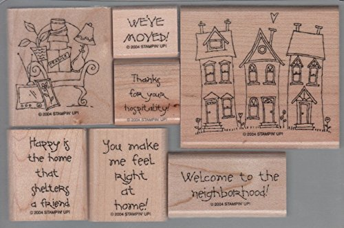 Stampin' Up! Right At Home Stamp Set of 7 - Retired 2004