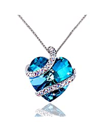 LE PAPILLION Pendant Necklaces Made with Austrian Crystals, Gift for Her