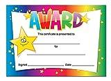 'Award' certificates - 16 x A6 cards, Schools,Teachers, kids, rainbow star theme