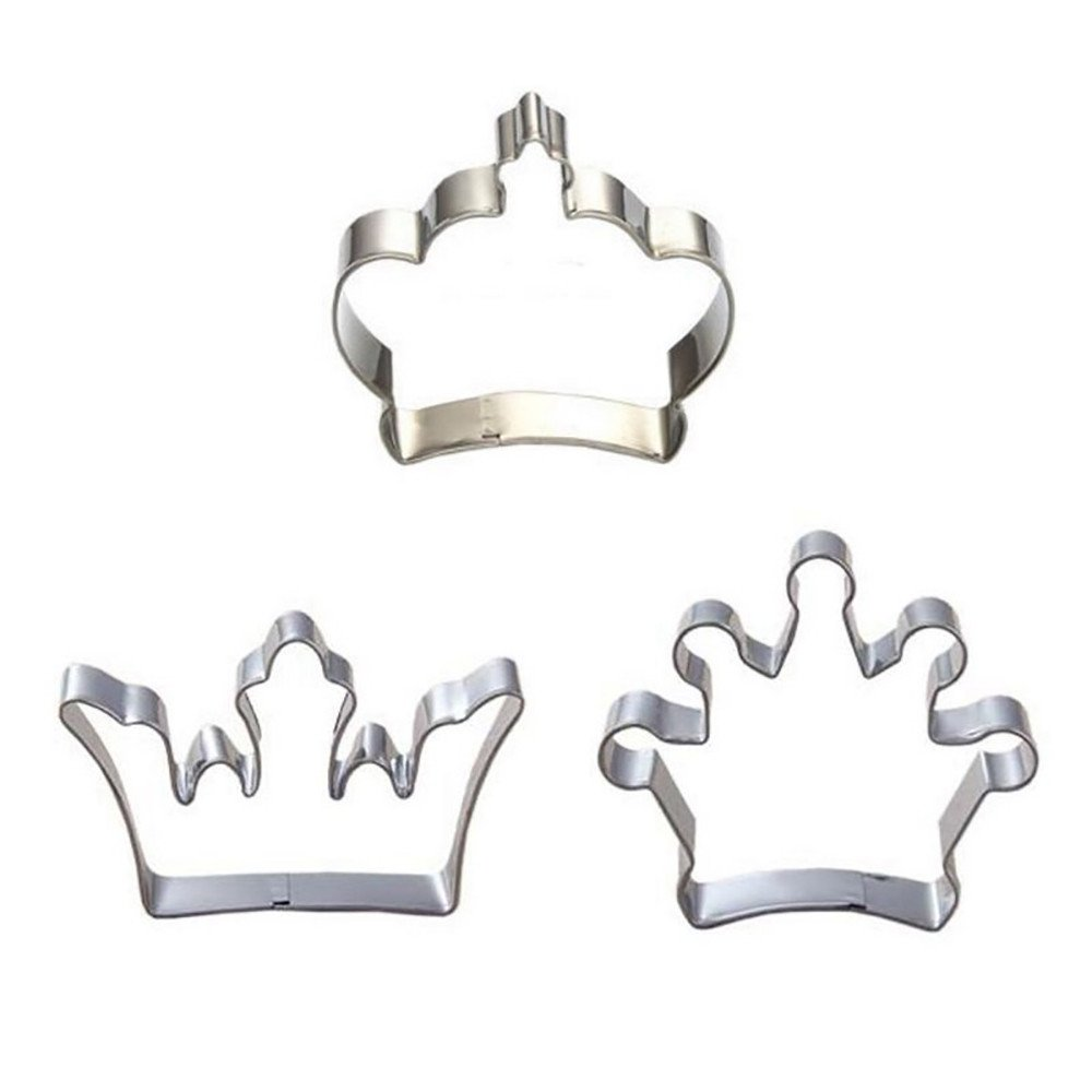 Colmkley DIY Cake Mold, Baking Pastry Tools, Unique Prince Princess Crown Cookie Cutter Stainless Steel DIY Cake Mold Easy Operation Lightweigh Stainless Cookies Crown Steel Mold