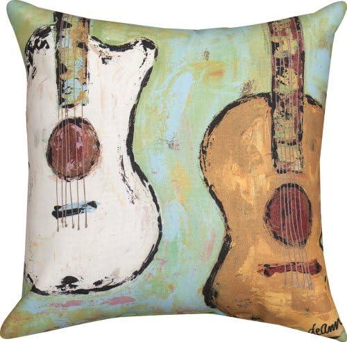 Manual Weavers 18 Strung Up Decorative Guitar Outdoor Patio Throw Pillow