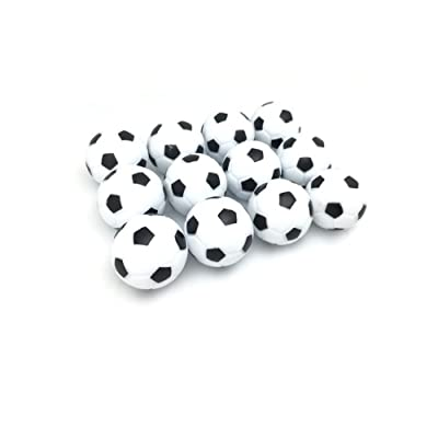 FQTANJU Table Soccer Foosball Replaceable Balls, Black and White, 12pcs, Diameter 28mm : Sports & Outdoors