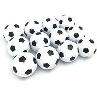 FQTANJU Table Soccer Foosball Replaceable Balls, Black and White,12pcs, Diameter 28mm/32mm/36mm.