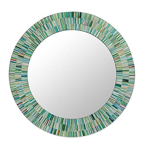 NOVICA MI0033 Aqua Fantasy' Mosaic Glass -