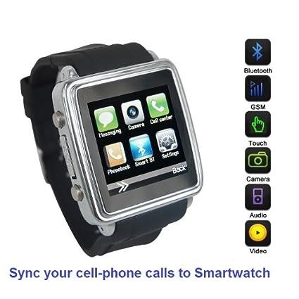 Amazon.com: SmartWatch (Classic Case & Black Strap ...