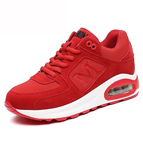 CN36 Rouge de UK4 EU36 LVZAIXI Chaussures Chaussures Chaussures Noir plates chaussures sport Automne Femme Marée douillet Couleur Rouge taille wwEqTa0