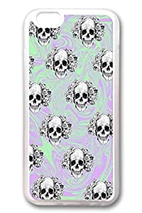 iPhone 6 Cases, Personalized Protective Soft Rubber TPU Clear Case Cover for New iPhone 6 4.7 inch Skulls