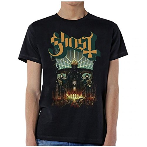 ill Rock Merch Ghost Meliora T-Shirt Large Black (The Pogues The Ghost Of A Smile)