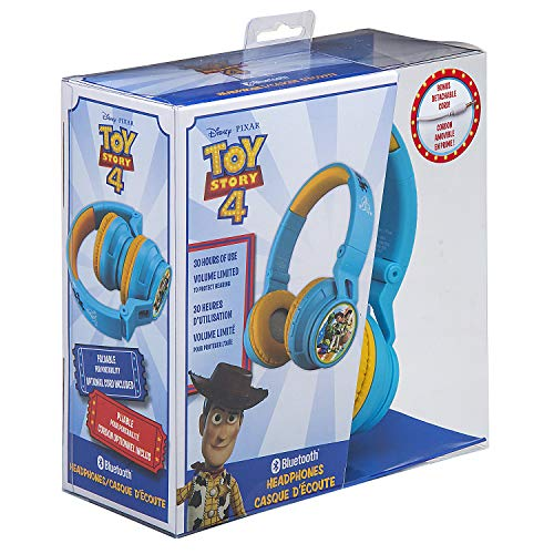 51ON2R4wWXL - eKids B50 Toy Story 4 Kids Bluetooth Headphones for Kids Wireless Rechargeable Foldable Bluetooth Headphones with Microphone Kid Friendly Sound & Bonus Detachable Cord