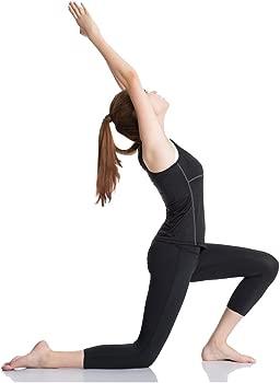 YR.Lover Mujer 3 Pack Dry Fit Compresión Running Yoga Tank Top – Camiseta