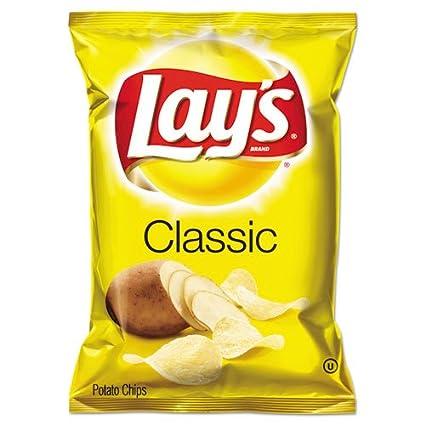 Ordinario de la Lay patatas chips, 1,5 oz Bolsa, 64/caja de ...