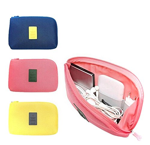 Edtoy Organizer System Kit Case Portable Storage Bag Digital Gadget Devices USB Cable Earphone Pen Travel Cosmetic Insert S Pink