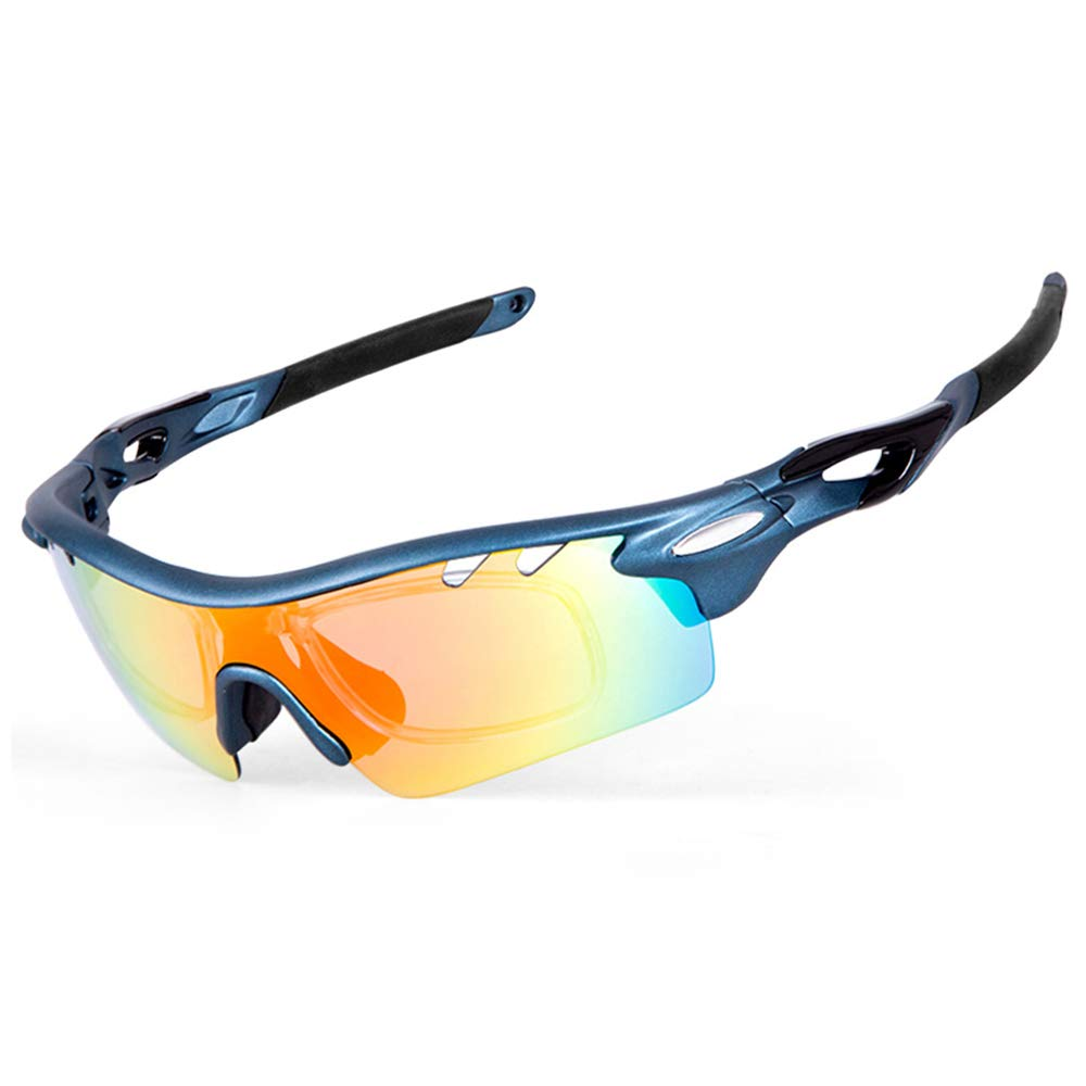 4aeece6f928 IKuaFly Mtb Cycling Glasses 5 Lents Lightweight UV400 Protection Flexible Sports  Sunglasses for Men Women