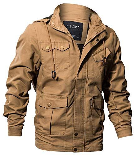 Comode Taglie Giacca Da Ntel Outdoor In Khaki Uomo Cotone Windbreaker Abiti Con Invernale Leisure Cappuccio Fashion Hx z5nq8x