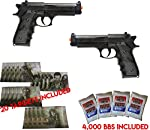 UKARMS Dual Airsoft Spring Pistols M9 92 6mm Beretta Full Size w/BBS & Targets