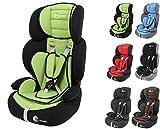 Clamaro 'Guardian 2017' Kinderautositz 9-36 kg verstellbar und mitwachsend, Auto Kindersitz für Kinder von 1-12 Jahre, Gruppe 1/2/3, ECE R44/04, Farbe: Schwarz Grün