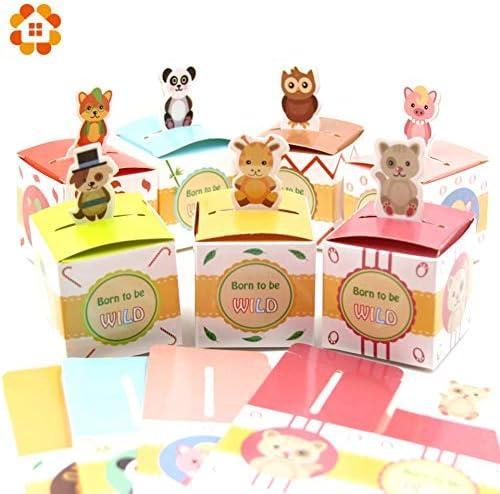 Uniqus - Caja de Regalo de 8 Tipos de Animales para Caramelos ...
