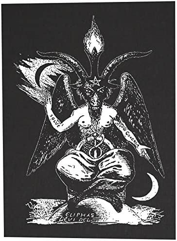 Amazon.com: Parche trasero de Baphomet – Pentagram Demonic Serpent Devil  Dragon Demon Evil Goat Mendes Skull Goat Head Gothic Metal Occult Punk  Satanic Skeleton Voodoo Wicca Witchcraft Leviathan Cross Inversible: Arte,  Manualidades