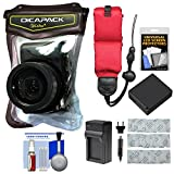 DiCAPac WP-570 Waterproof Case with Battery & Charger + Gel Packets + Float Strap + Kit for LUMIX LX10, LX100, ZS60, ZS70, ZS100, ZS200 Cameras