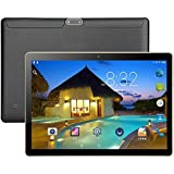 10.1 inch Android Tablet PC,1GB RAM 16GB Storage Phablet Tablet Quad Core Unlocked 3G Cell Phone Tablets, Dual Camera Sim Card Slots, WiFi, GPS, Blue-Tooth 4.0,25601600 HD IPS Screen Display(Black)