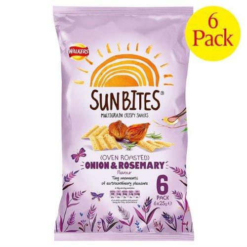 Walker's Sun Bites Onion & Rosemary 6 X 25G (Case Of 8)