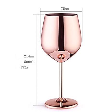 PHDP Copa de Vino Tinto de Acero Inoxidable 304 Copa de Vino ...