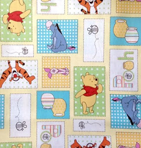 Trapunta Winnie The Pooh.1 2 Yard Winnie The Pooh Patchwork Cloudy Day Cotton Fabric Piglet Eeyore Tigger Pooh Great For Quilting Sewing Craft Projects Quilts
