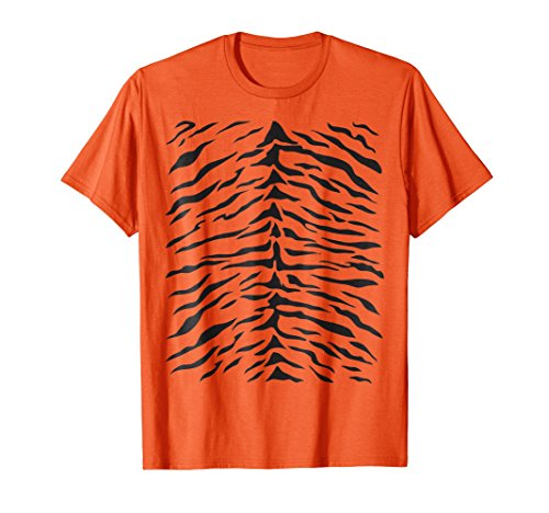 Tiger Print T-Shirt Cute Costume Idea Orange Tigers Stripes -