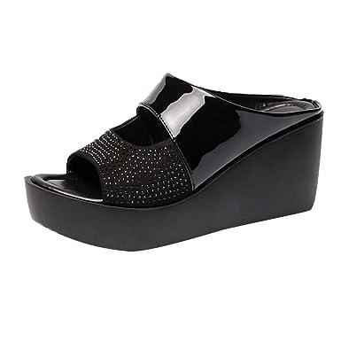 f8fe907ffbea2 Amazon.com: AHAYAKU Women Leisure Shoes Platform Wedges Fish Mouth ...