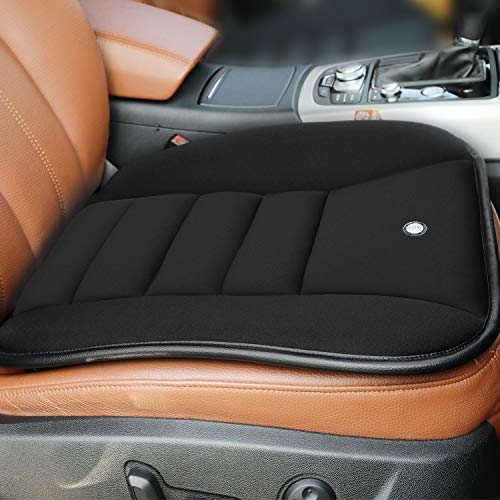 RaoRanDang Car Seat Cushion Pad for Car Driver Seat Office chair Home Use Memory Foam Seat Cushion Black