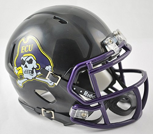 (New Riddell East Carolina ECU Pirates Matte Black Speed Mini Football Helmet)