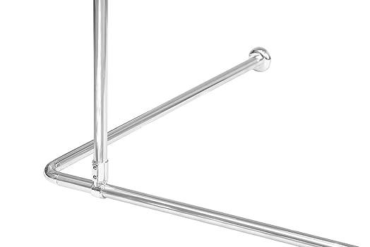 croydex l shaped shower curtain rail. Black Bedroom Furniture Sets. Home Design Ideas