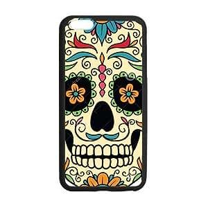 """Dia De Los Muertos Skull iPhone 6plus 5.5 inches Cases-Cosica Provide Superior Cases For iPhone 6plus 5.5 """""""