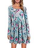MOOSUNGEEK Fit Flared Dress, Women's Vintage A Line Floral Swing Dress