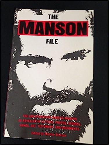 The Manson File Nikolas Schreck 9780941693042 Amazon Books