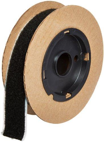 VELCRO 3804-SAT-PSA/L Black Woven Nylon Loop 1000, 0132 Adhesive Backed, 1 Wide, 10 Length