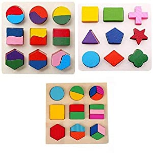Grizzly Wooden Geometry Matching Puzzles...