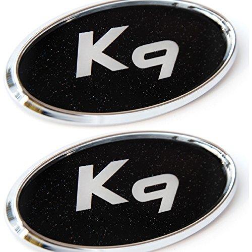 2019 Kia K900: K9 Logo Front + Rear Chrome Mirror Emblem (Fit : KIA K900