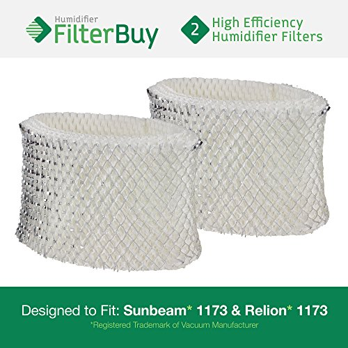 2 - 1173 Sunbeam & Relion Humidifier Wick Filters. Designed & Engineered by FilterBuy in the USA.