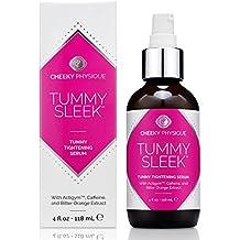 Tummy Sleek Tummy Tightening Serum - Skin Firming & Body Toning Gel for Abs and Waist with Actigym + Caffeine + Bitter Orange Extract - 4 oz.