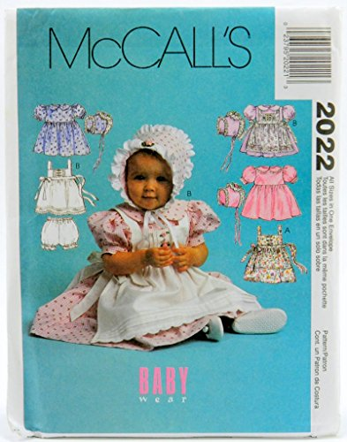 - McCall's 2022 Infants' Dress, Pinafore, Panties and Bonnet Pattern - All Sizes - Small - X Large