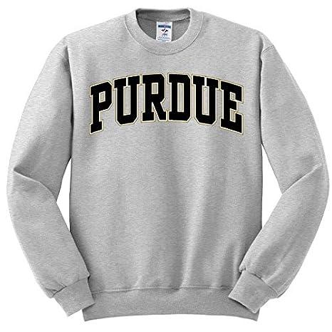 740c2104f843 Amazon.com   Purdue University Oxford Grey Sweatshirt with Purdue Arch    Sports   Outdoors